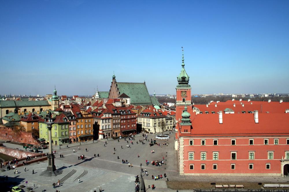 Polen Warschau de oude stad