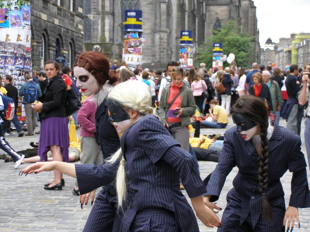 Schotland Fringe festival in Edinburgh