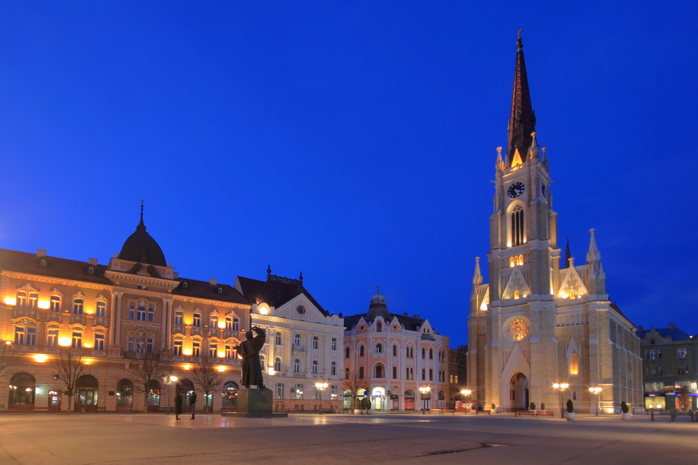Servië Novi Sad neogotische cathedraal