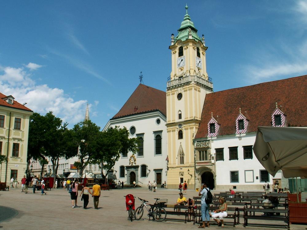 Slowakije het central plein in Bratislava