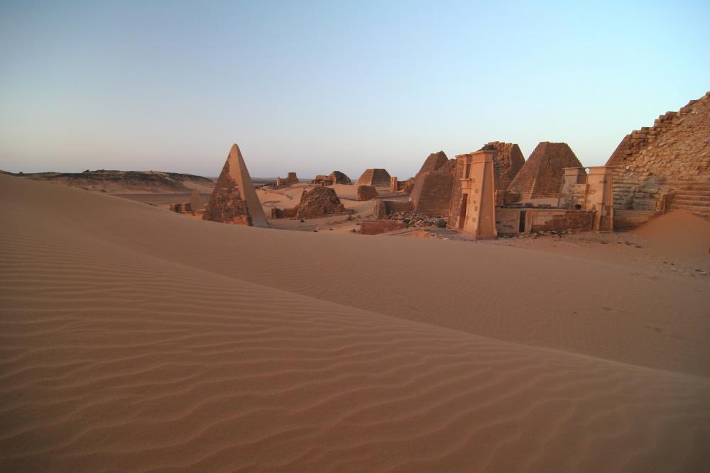 Soedan de beroemde Meroe piramides