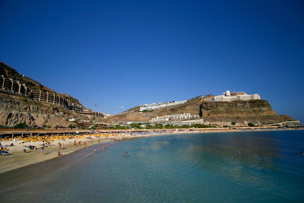 Spanje Gran Canaria het beroemde Playa de Amadores