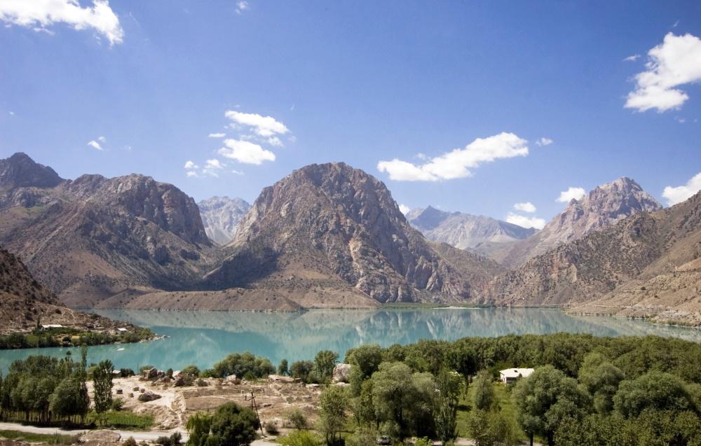 Tajikistan. Lake in Iskandarkul.