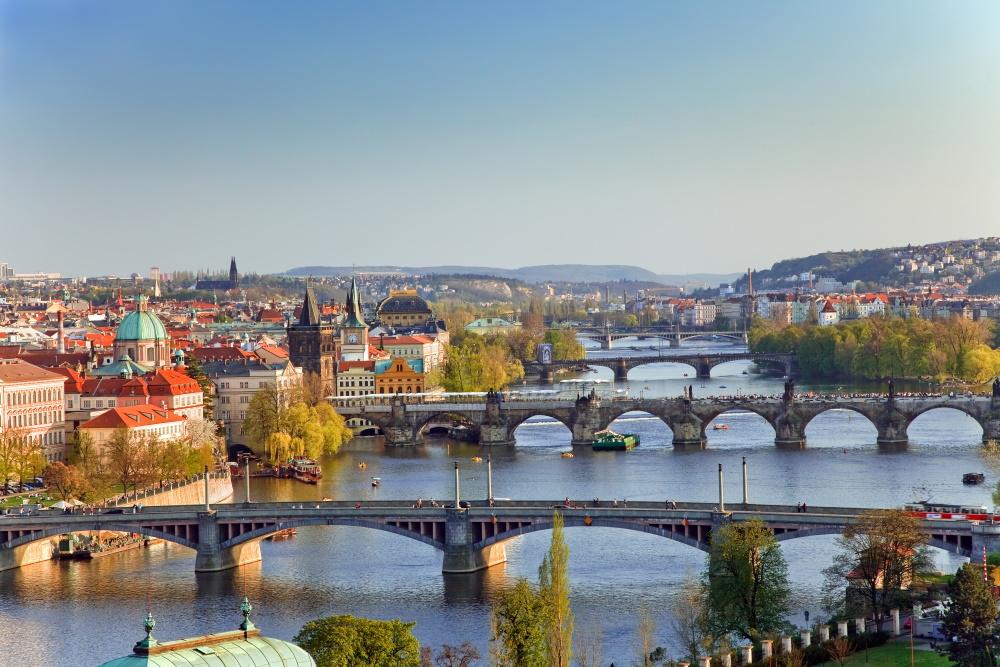 Tsjechië de bruggen van Praag