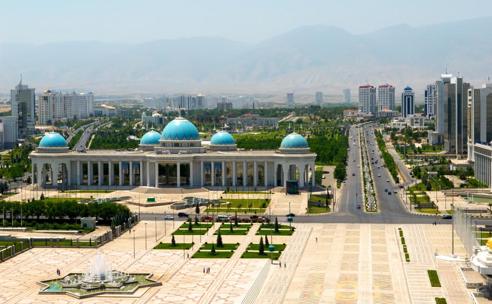 Turkmenistan Ashkhabad centrale plein