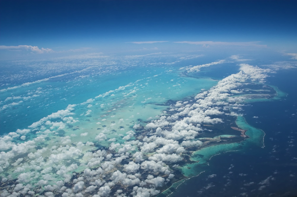 Turks and Caicos vanuit de lucht