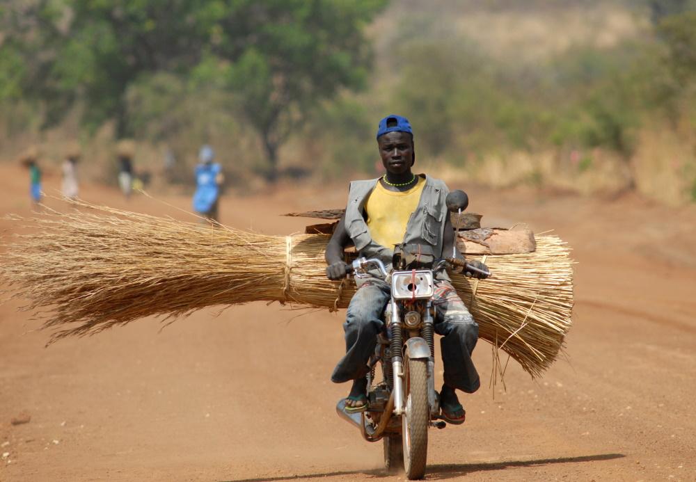 Soedan motorrijder