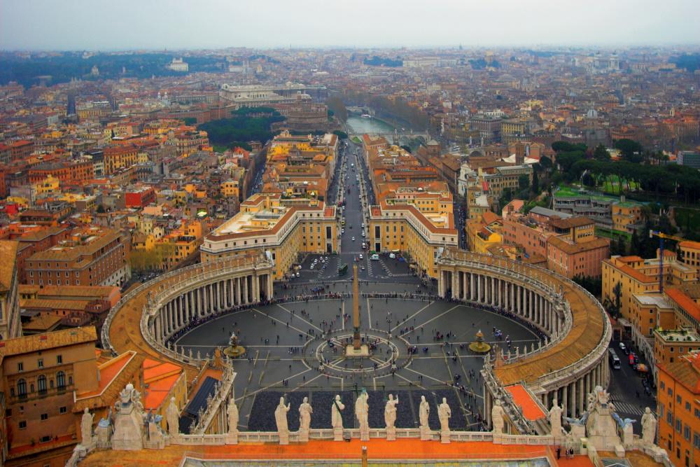 Vaticaan stad het Sint Pieter plein