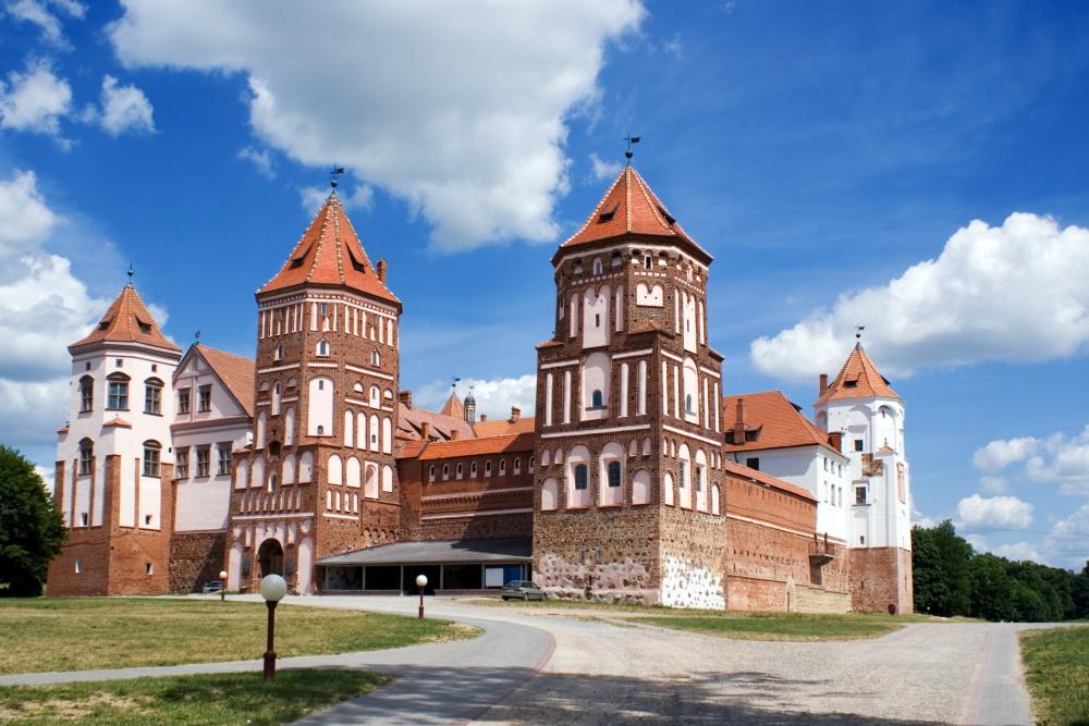 Wit-Rusland het kasteel van Mir