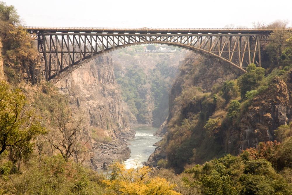Zambia brug over de Zambezi tussen Zambia en Zimbabwe