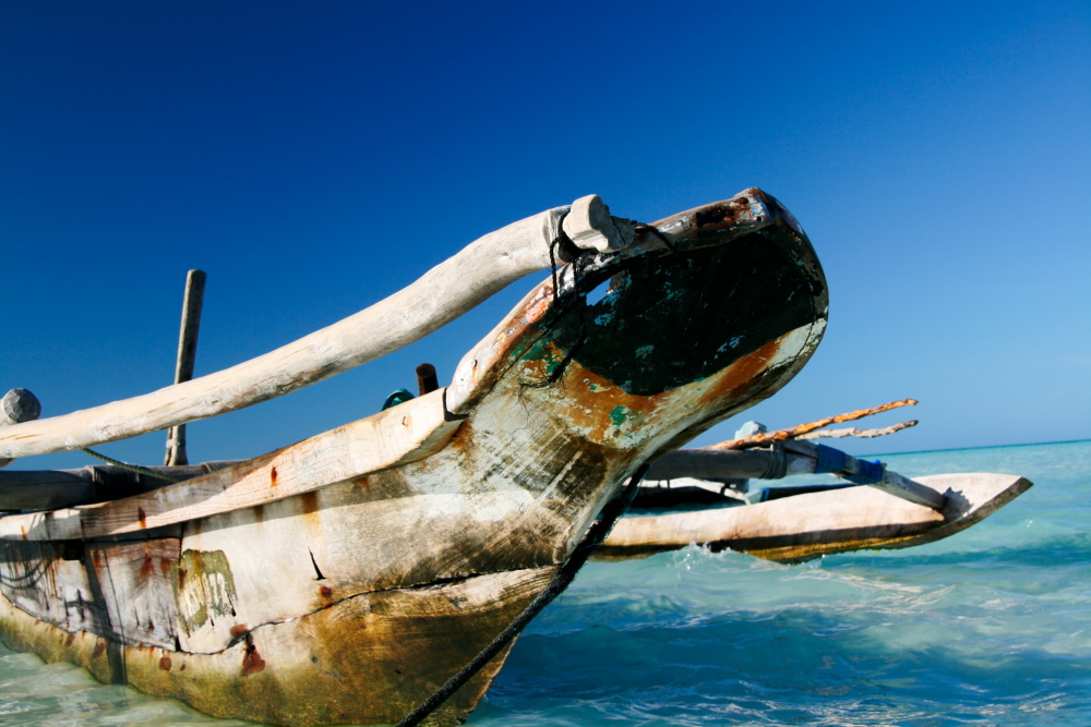 Zanzibar Traditionele dhow boot