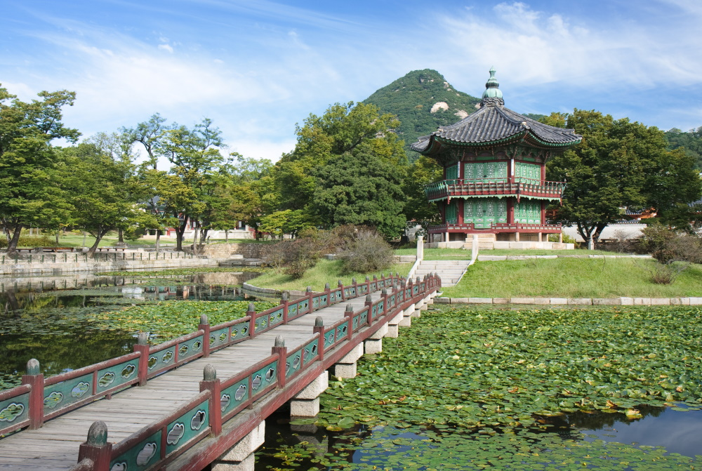 Zuid-Korea Hyangwin-jeong paviljoen in Gyeongbokgung